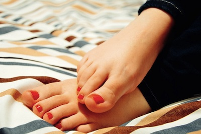 Woman's bare feet