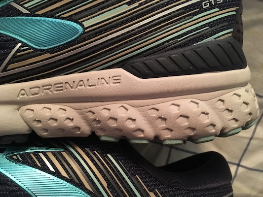 Brooks Adrenaline GTS 19 cushioning