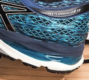 Athletic shoes with gel cushioning