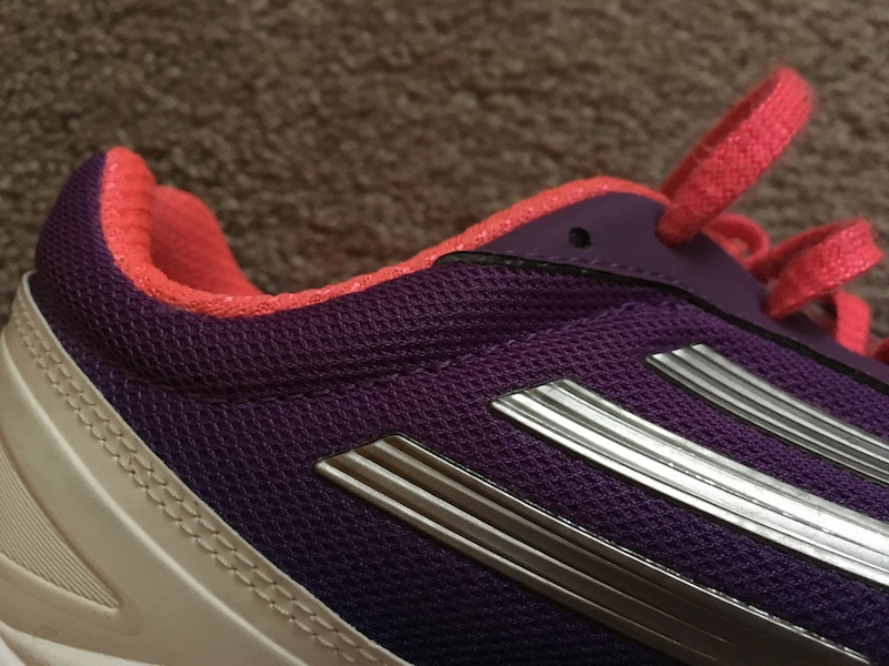 Athletic shoes may have extra lace eyelets.