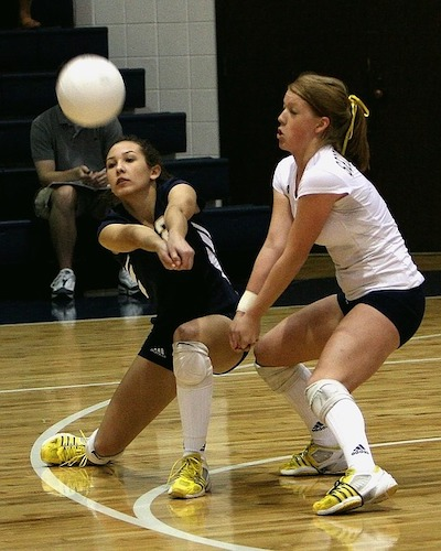 Volleyball requires a lot of lateral movement