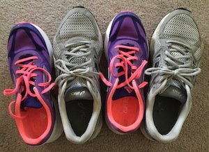 Men's and women's athletic shoes